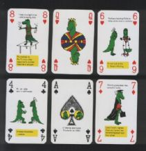 Collectible Vintage Playing cards . Wendy & Colin, alligators